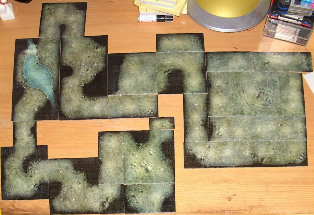 Cavern made of Dungeon Tiles